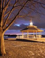 """""""Gazebo At Sunset Lake"""""""